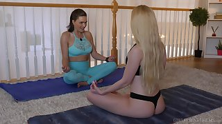 Yoga task drives these sensual bitches quite horny