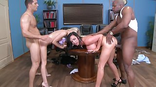 Extreme foursome with Alex Grey and appealing Nikki Benz