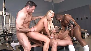 Amazing pornstars Amy Brooke, Bobbi Starr and Carla Cox in horny blonde, anal xxx clip
