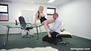 Georgie Lyall adores rough fianc� with her colleague in her office