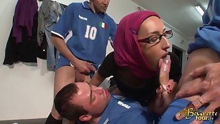 Arab Girl Wants An Stationery Exotic Soccer Thrust