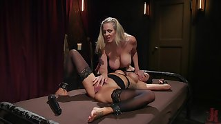 BDSM lesbian action with hot babes Julia Ann and Gia Dimarco